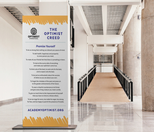 Example of branded creed banner