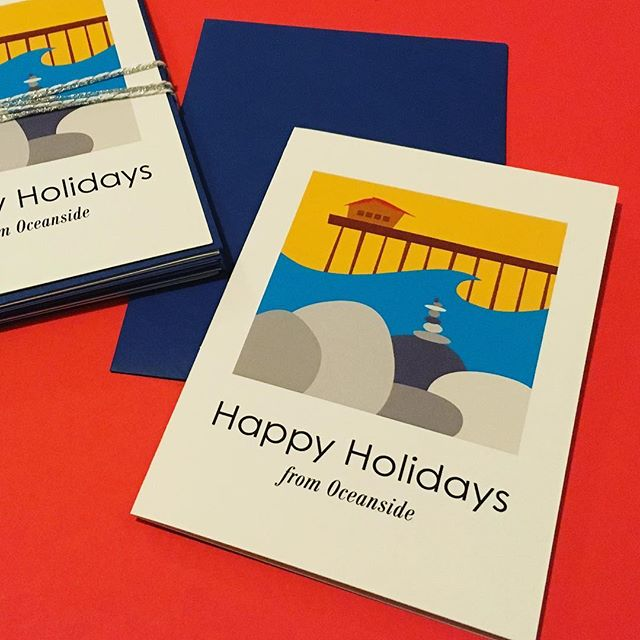 Hey O'side; check this out!! Happy Holidays cards bundle: $12.00 (includes 6 cards + envelopes). Message reads: May the magic of the season stay with you throughout the year. DM if interested. Thanks so much for supporting your local businesses 🙏🏽#oceansidecalifornia #oside #northcountysd #sandiego #northcountysandiego #oceansidepier #visitoceanside #oceansidelocal #madeincalifornia #happyholidays #greetingcards #greetingcard #madeincalifornia