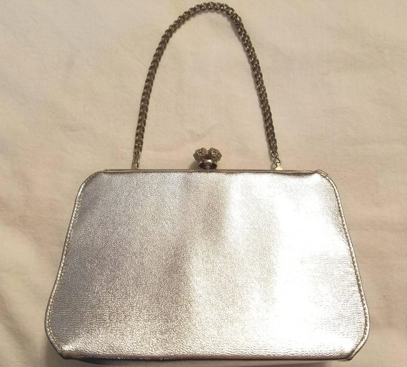 1950s Silver evening bag , Etsy, $7