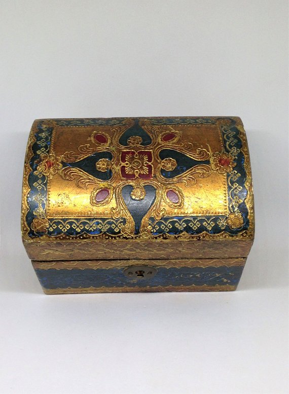 Florentine treasure chest box , Etsy, $16