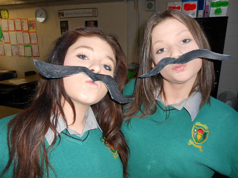 Looks like Leona and Lauren want to help out for MOvember too....