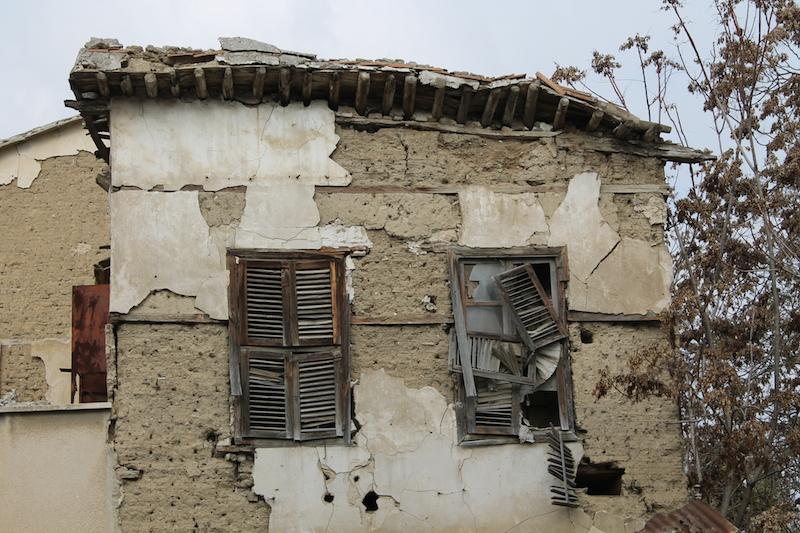 Old building on edge of Turkish occupied territory, Nicosia