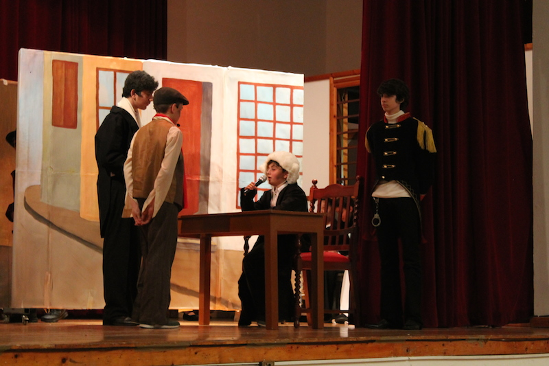Students performing Oliver Twist (in English... not their 1st language!!)