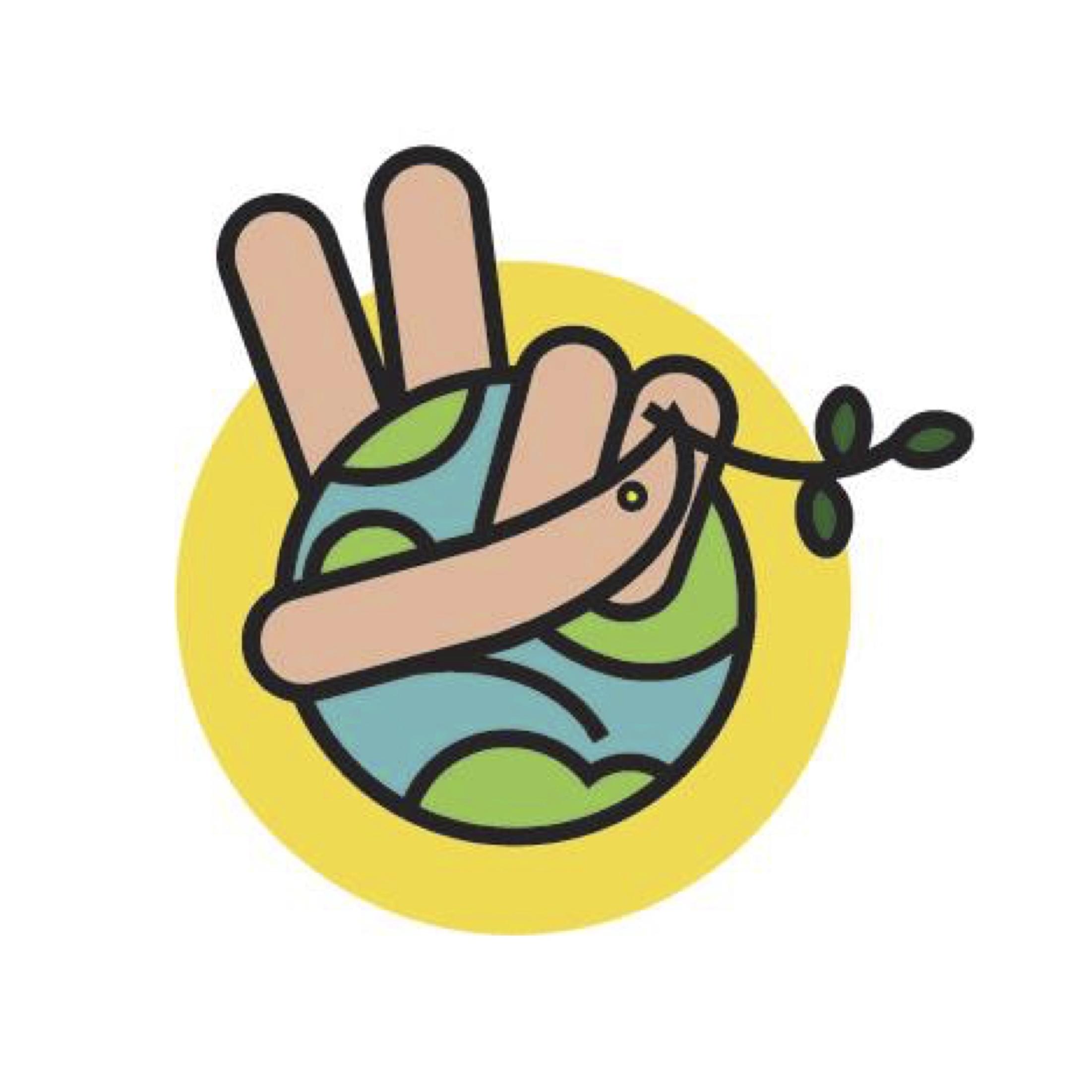 Paula's winning peace symbol