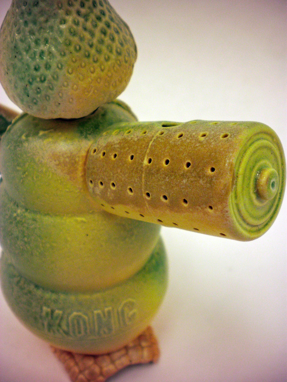 "GMO Tea-Time!, 2010   10"" x 7"" x 9""  Cone 10 Porcelain"