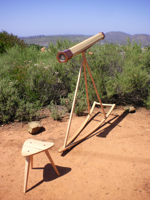 """Ocelli , 2012   5 ½' x 48"""" x 12'  Oak, MDF, Spray Paint, Found Objects, PVC"""