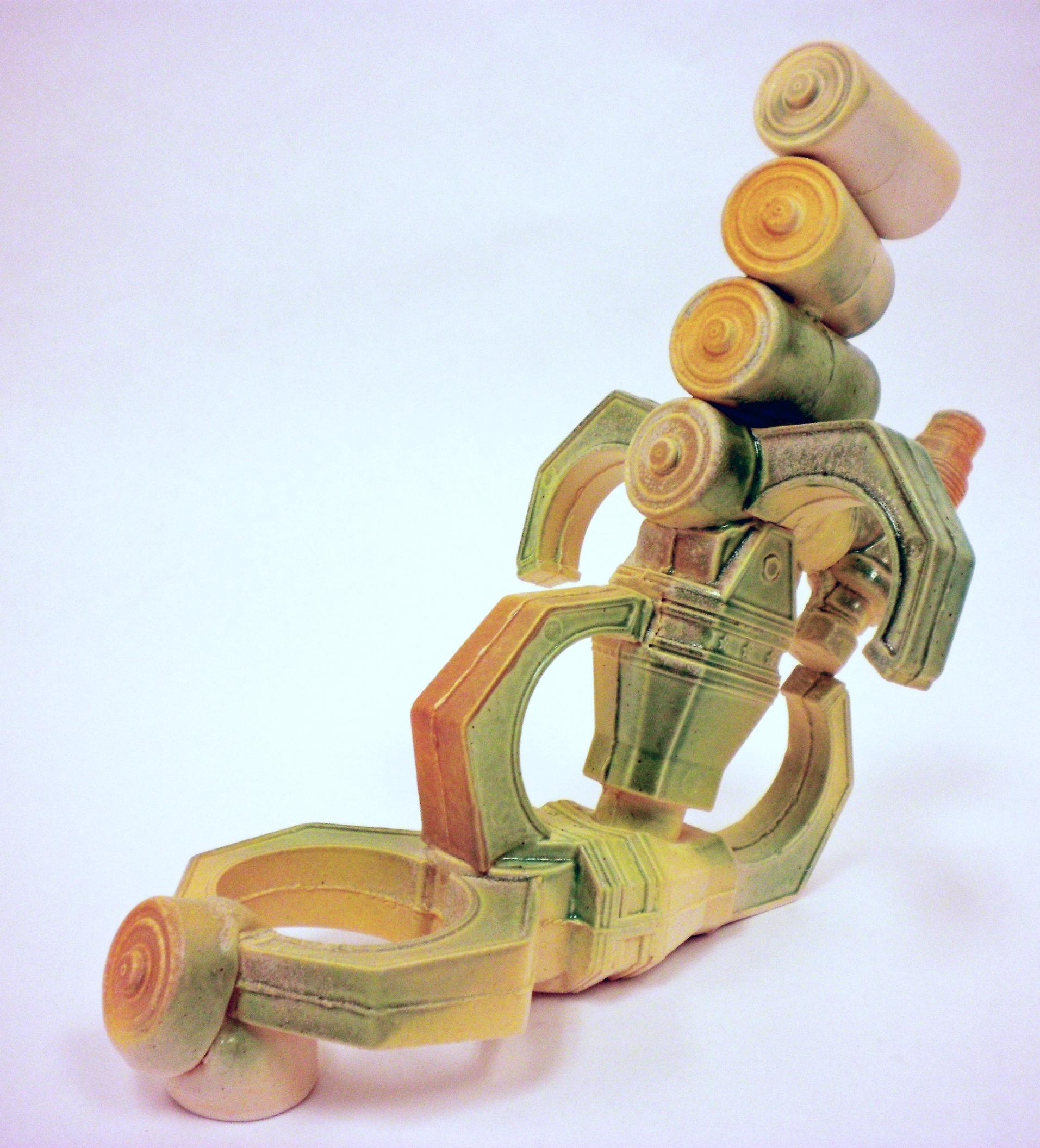 "Transformer Tea-pot,  2010   11"" x 8"" x 6""  Cone 10 Porcelain"