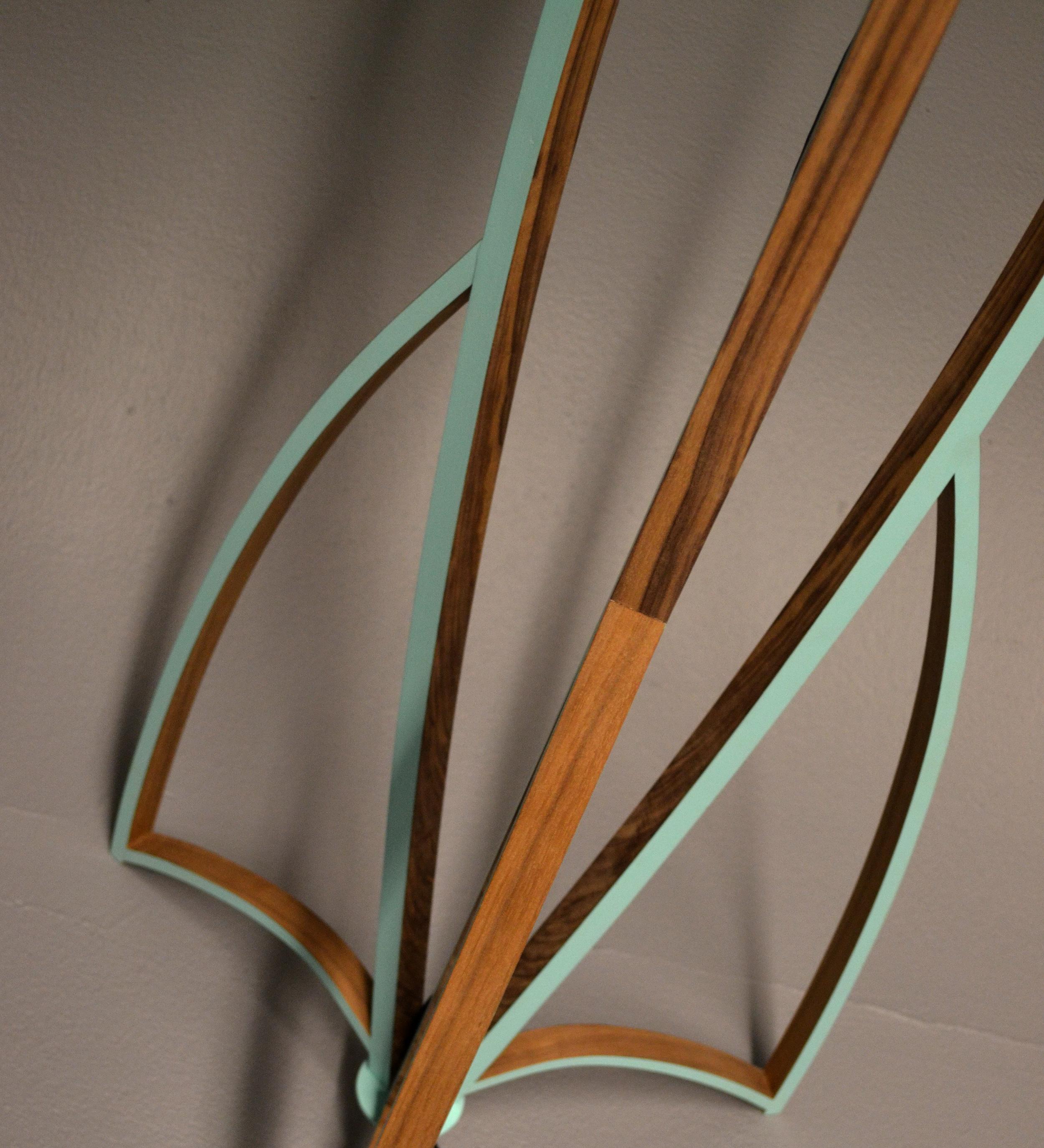 Tsiolkovsky Lamp, 2013    2 1/2' x 2 1/2' x 8'  Walnut Veneer, Poplar, Paint