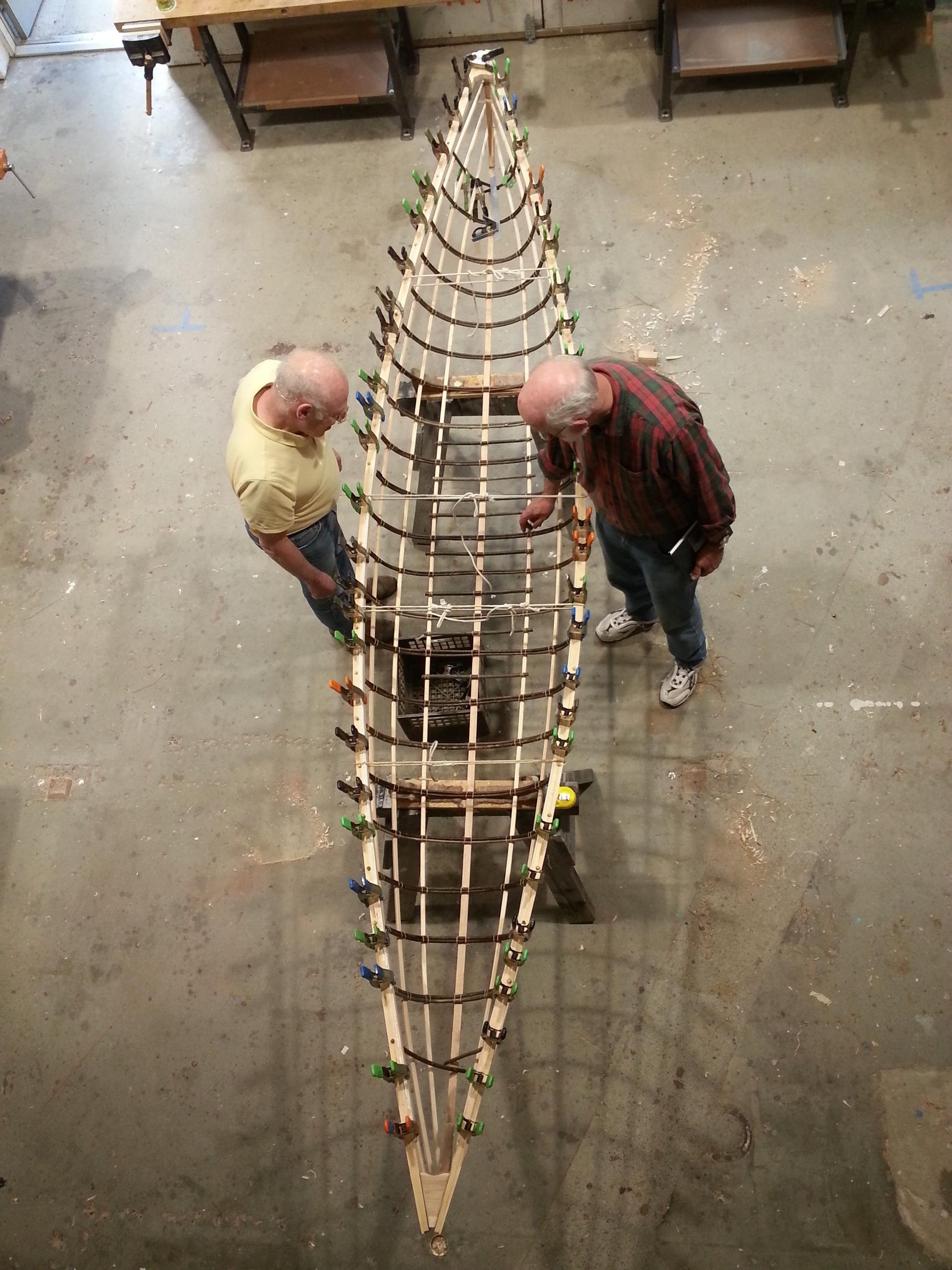 Traditional Willow Rib Canoe
