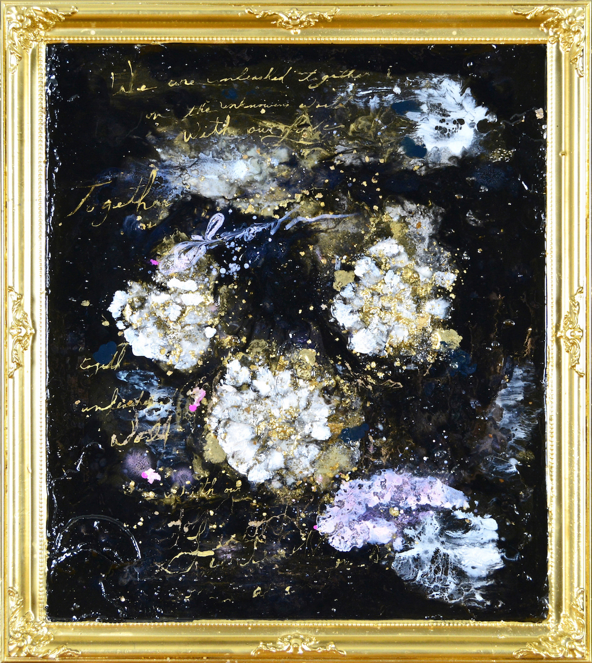SARAH RASKEY - WE ARE UNLEASHED ON THE UNKNOWING WORLD WITH OUR LOVE - 29X25