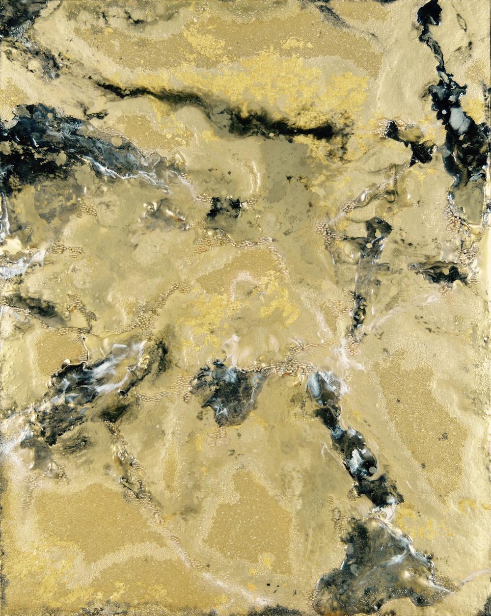 SARAH RASKEY - WHERE CRYSTAL DROPS FALL SLOWLY FROM A THOUSAND TINY EDGES - 29.75X23.5