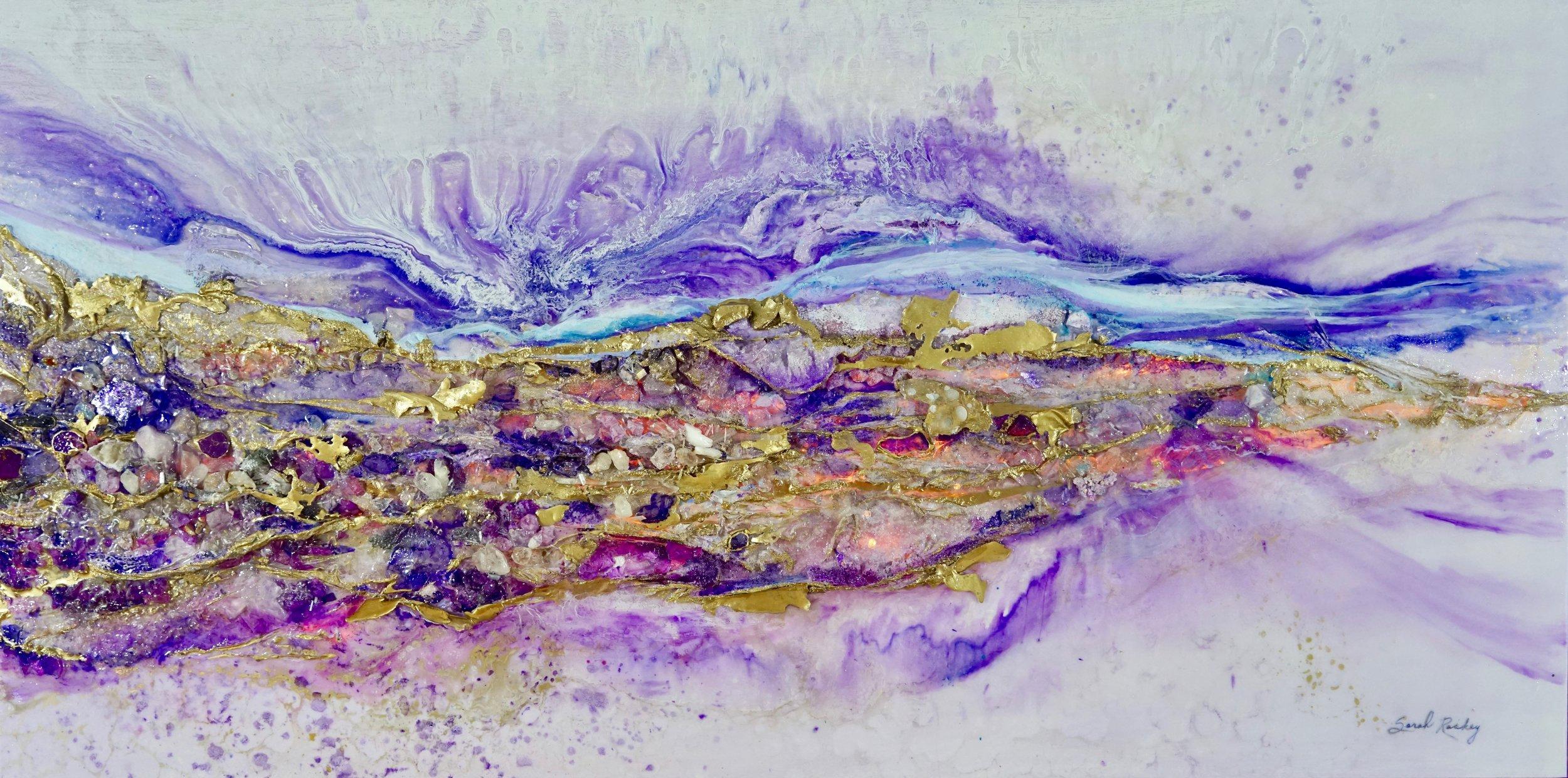 WAVES OF LOVE THROUGH ROLLING STONES - SARAH RASKEY FINE ART