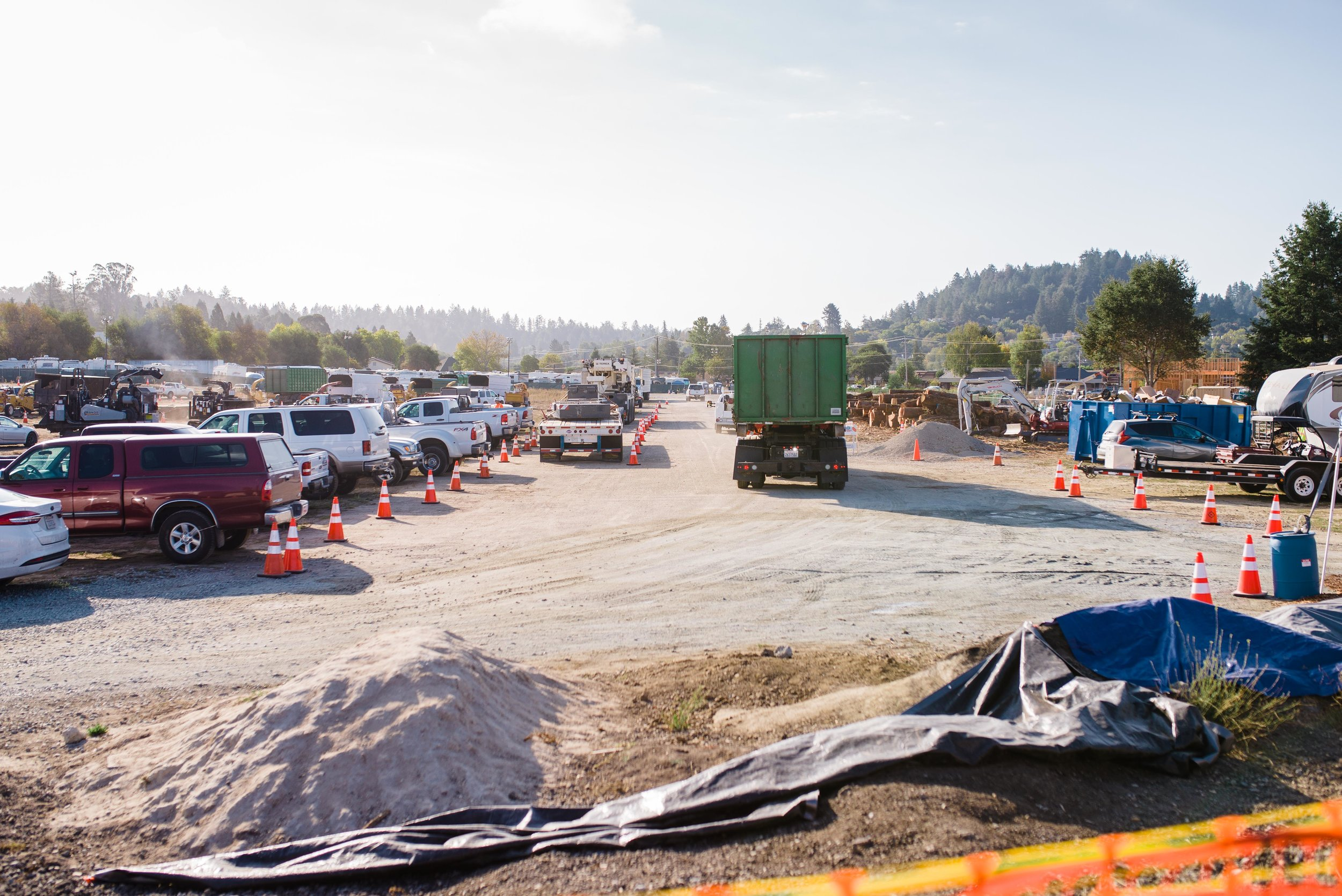 Views of the PG&E basecamp, Scotts Valley, CA October 2018.