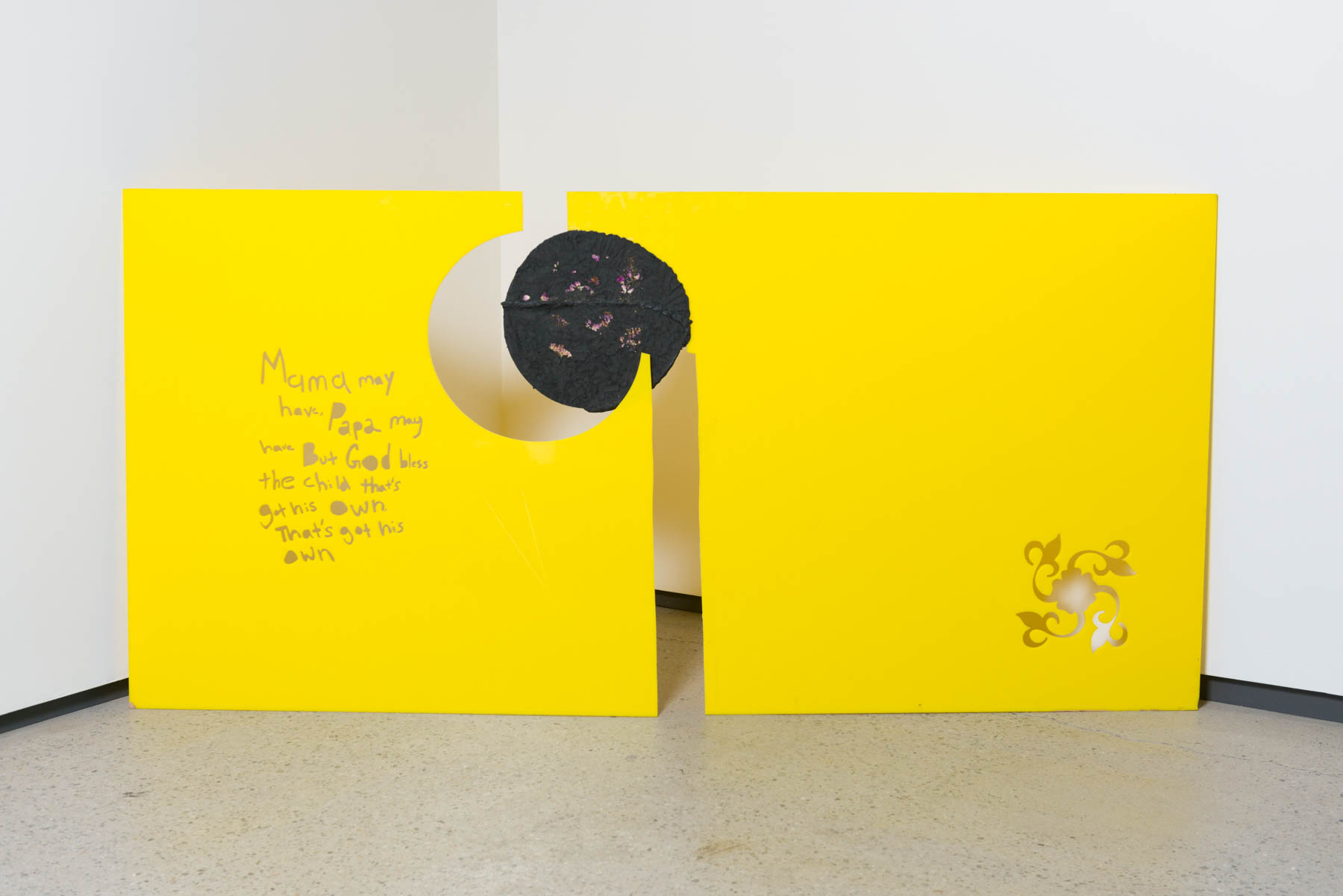 Installation Shot from A pool is water @ Galerie Division
