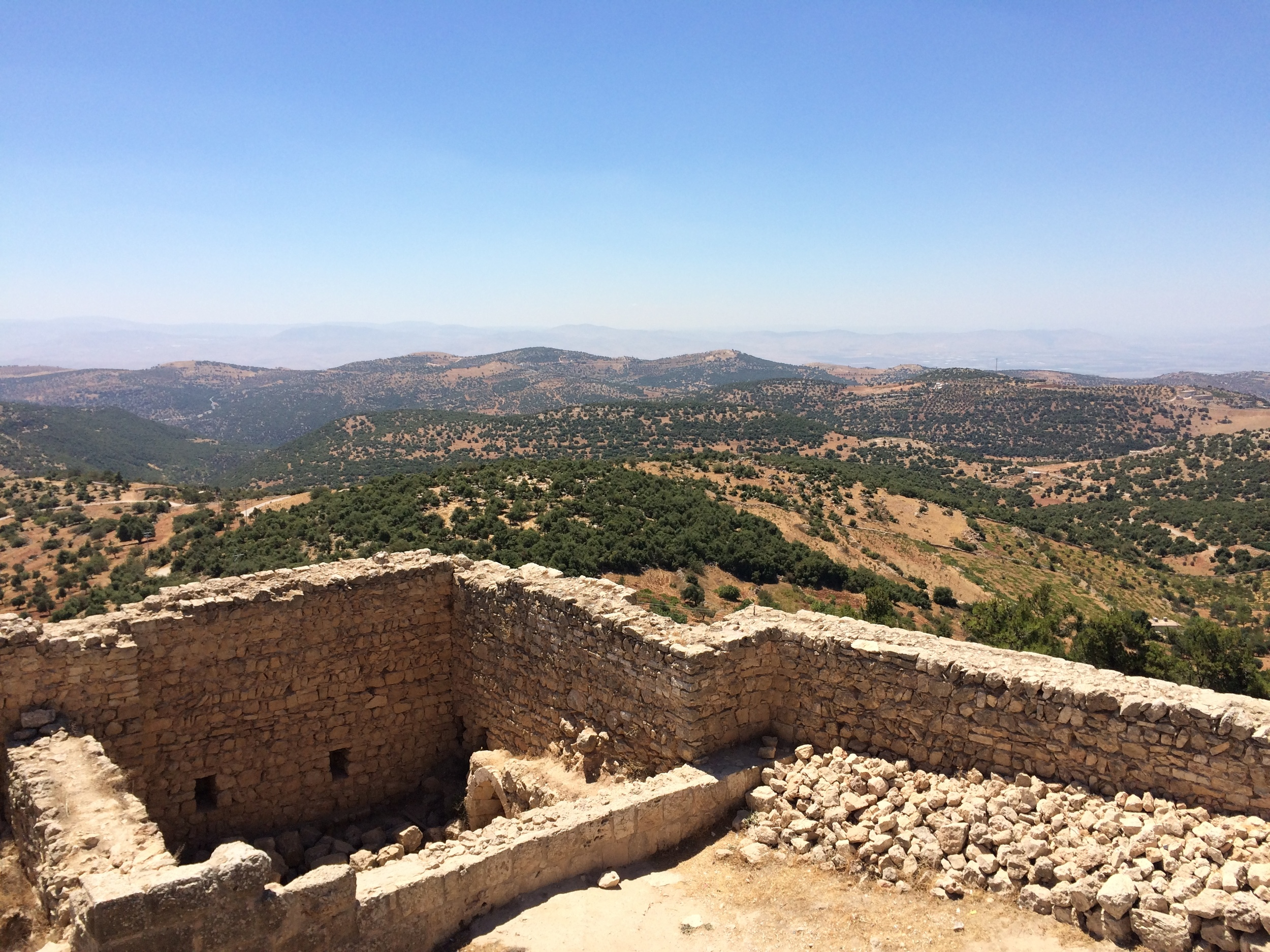 From the top of the castle you can see the borders of Syria and Israel