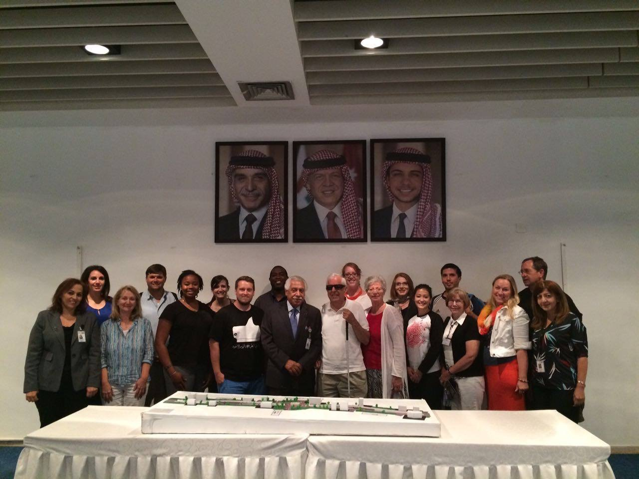 Our group meeting with the Mayor of Amman