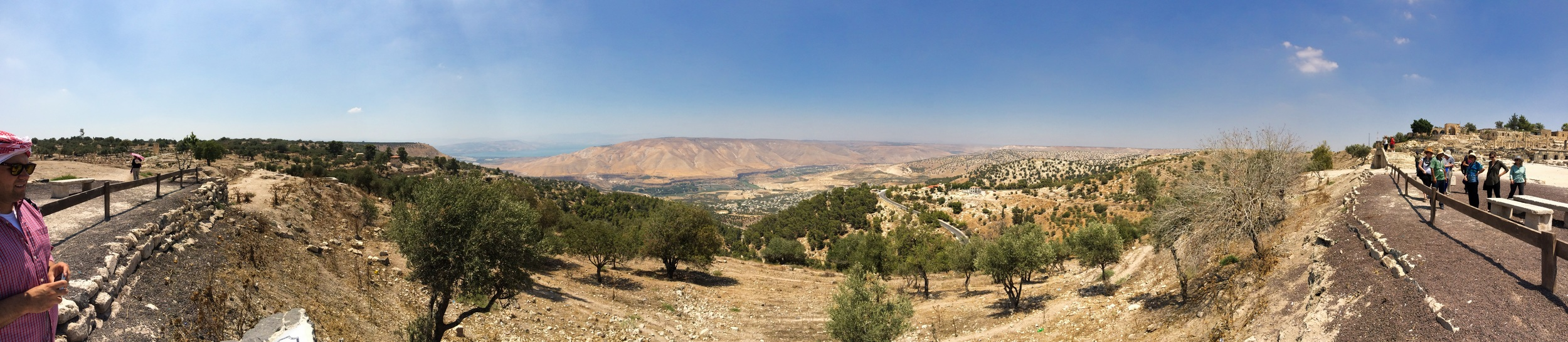 Panoramic view from Umm Qais of the Sea of Galilee & Golan Heights