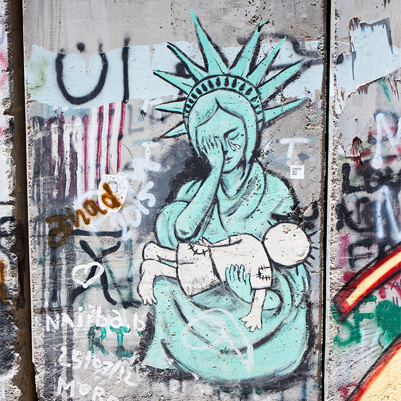 Border wall in Bethlehem, this was the saddest thing I witnessed on the trip.