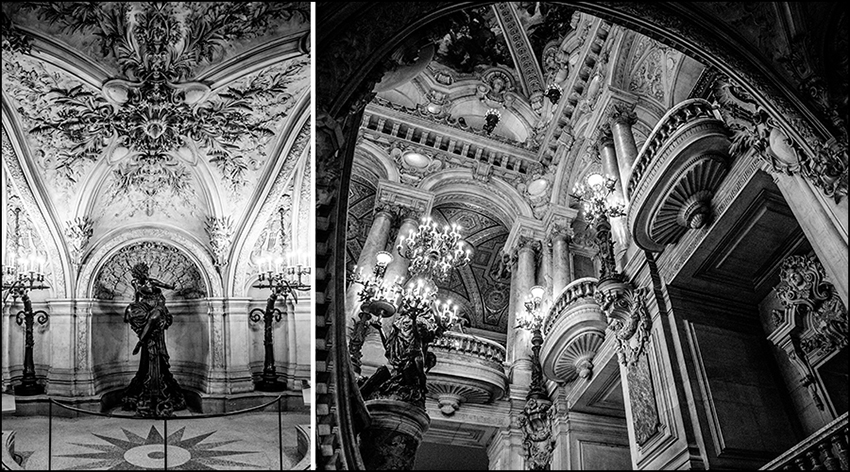 Palais Garnier...even though the legend of the Phantom of the Opera isn't real, it was on my mind the whole time we were wandering this beautiful building.