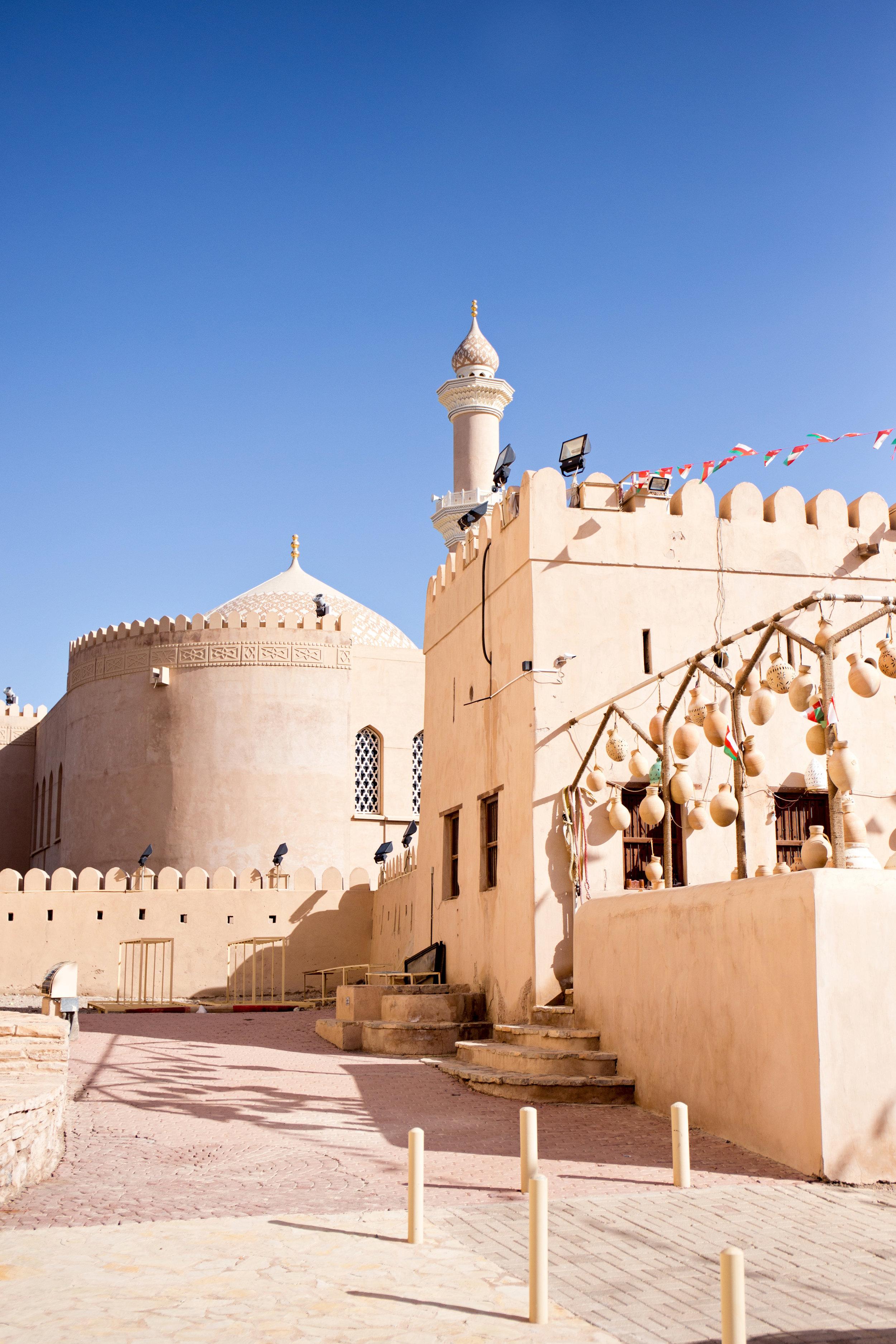 Nizwa Fort in Nizwa (former capital of Oman)