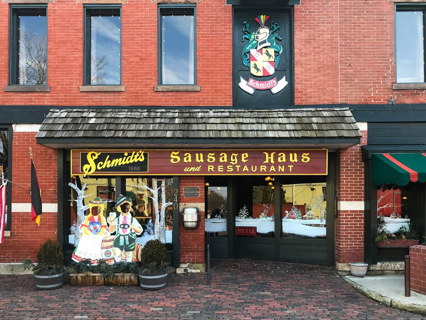 in German Village at Schmidt's Sausage Haus und Restaurant
