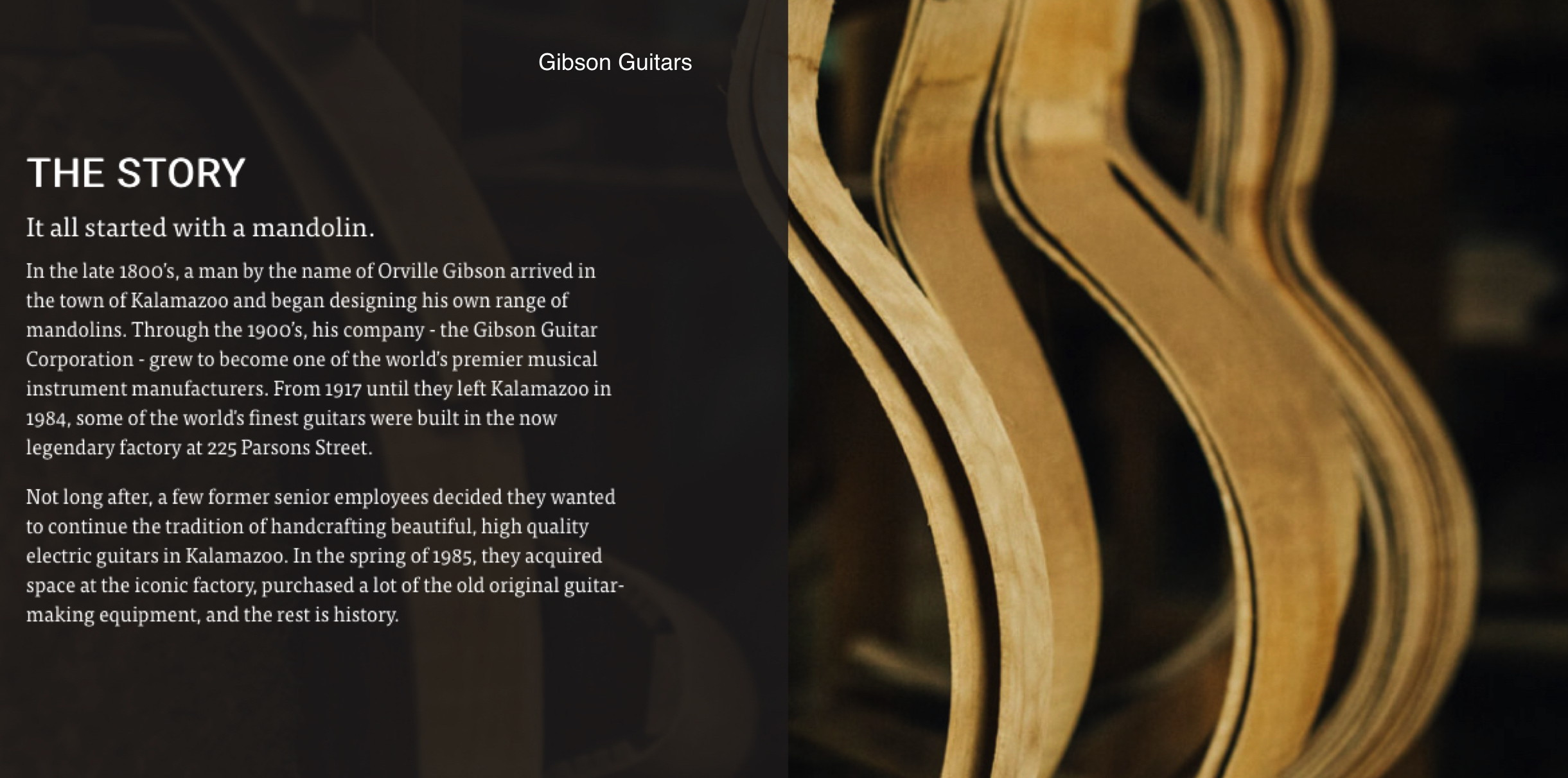 DId you know that Kalamazoo is the home of gibson guitars
