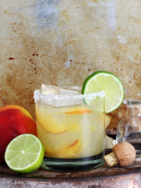 Ginger Peach Margaritas