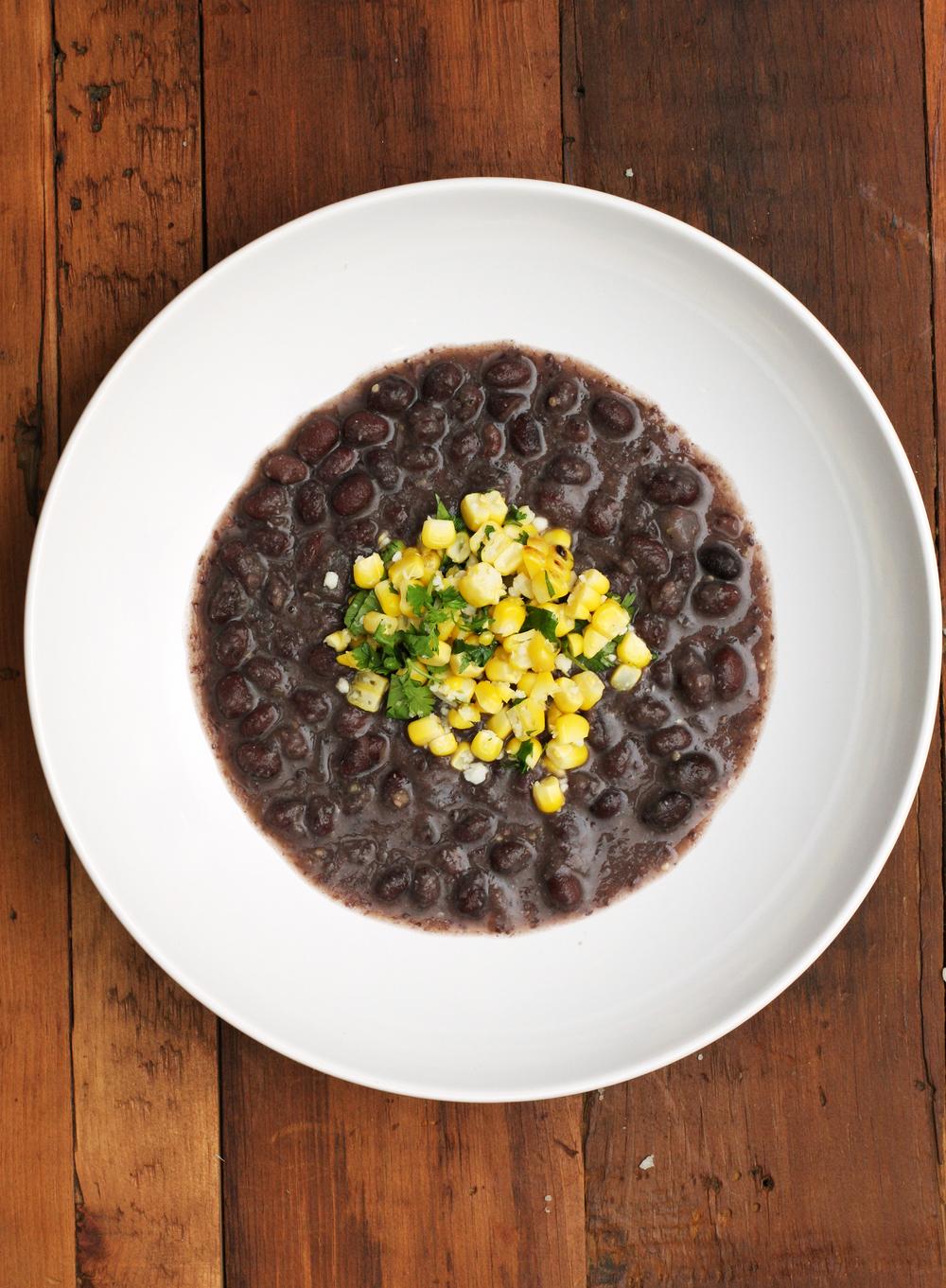 Black Bean + Tomatillo Soup