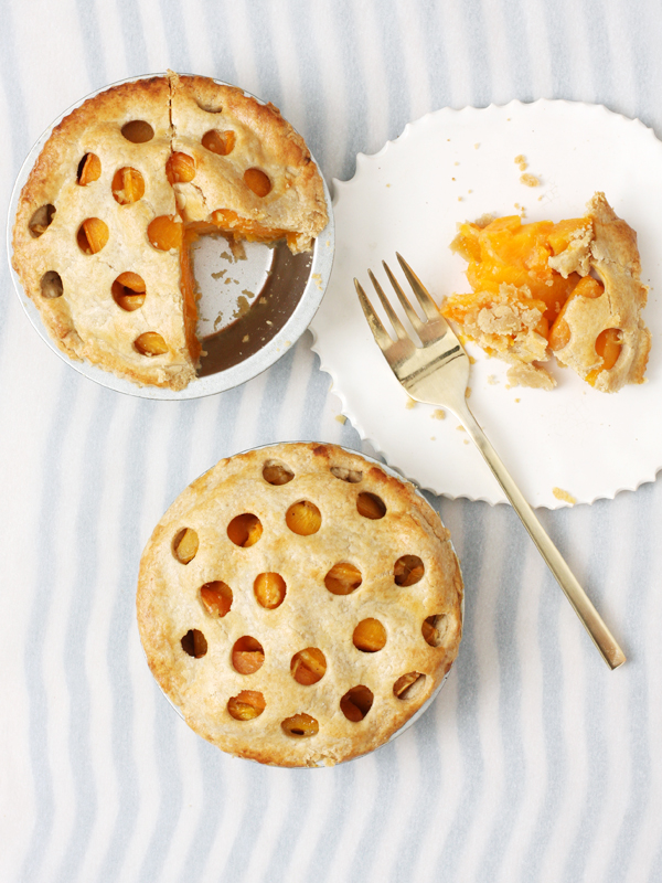 Ginger Peach Pies + Coconut Crust (vegan, dairy free)