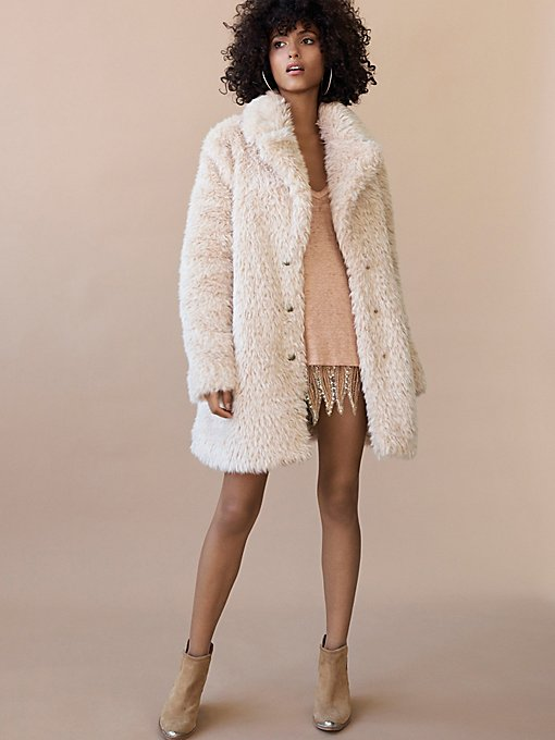 A warm and fuzzy coat.  $298 at  free people