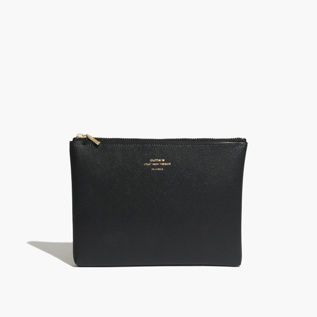A zippered pouch to help her organize.  $22 at  madewell
