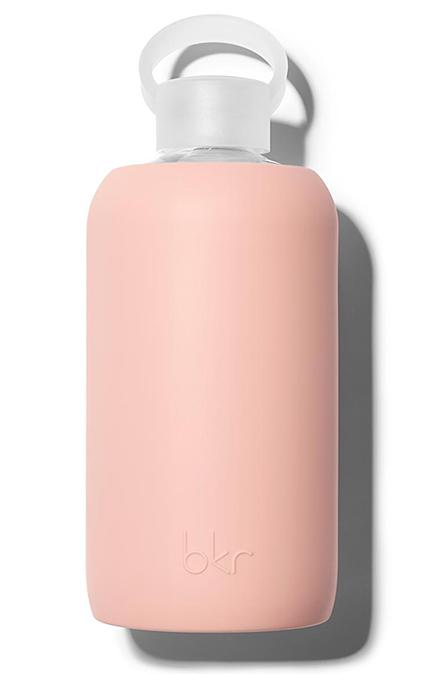 32oz glass water bottle by Bkr, $45