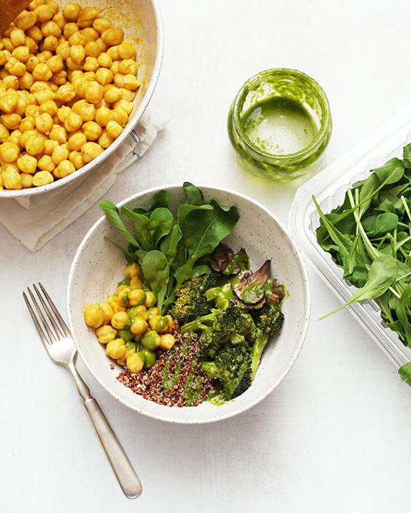 Pesto Portobello Salad