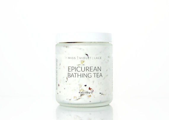 This shop is beautiful. If I had a bath tub, I'd scoop this right up. Chamomile, rose and honeysuckle sound like the perfect combination with a warm bath.  Epicurean Bathing Tea, $35