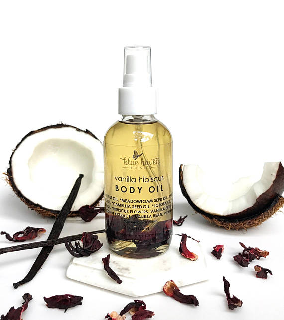I've demanded a back massage for my birthday and the vanilla hibiscus scent of this oil sounds like a dreamy massage oil option.  Vanilla Body Oil, $27