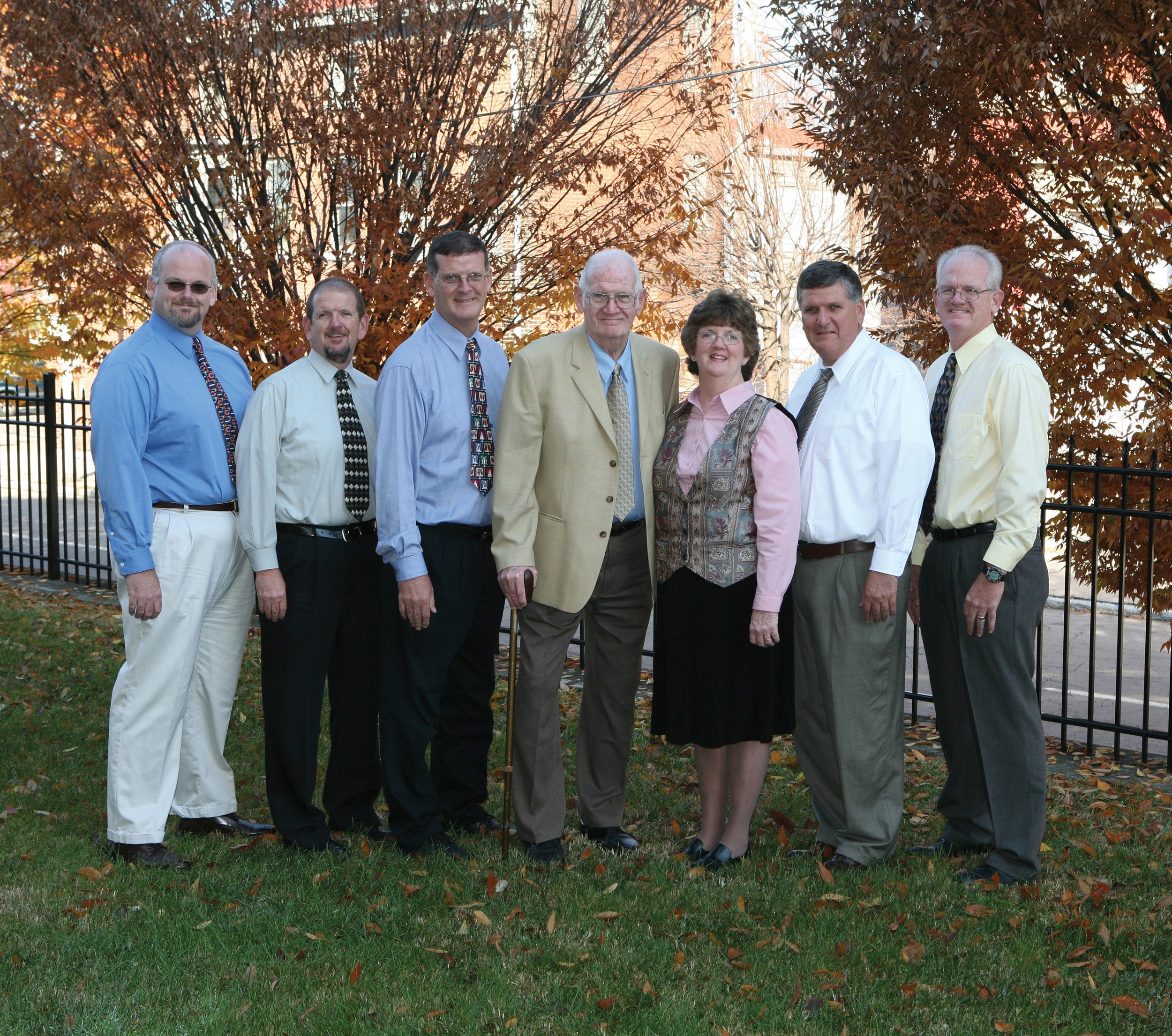 The Nash family. From left; David Nash, Jerry Nash,  Joe Nash , Harry Nash, Mary Ann Osting, Mike Nash and Pat Nash.