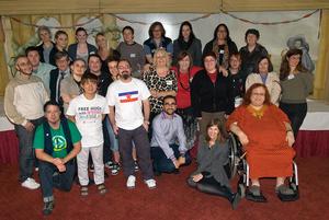 First ever International Intersex Forum, Brussels, Belgium, 2011.