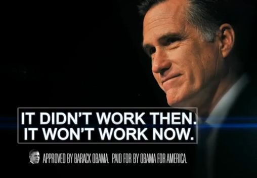 Obama's ads claim Romney's policies would result in more economic decline.