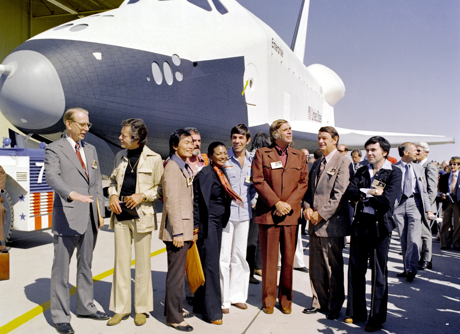 Star Trek influenced generations of scientists and explorers ( including me ). NASA even named the first space shuttle after Captain Kirk's U.S.S. Enterprise.
