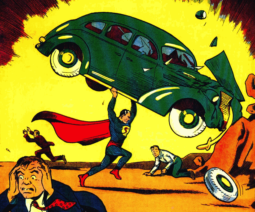 Superman Helping in Action Comics #1