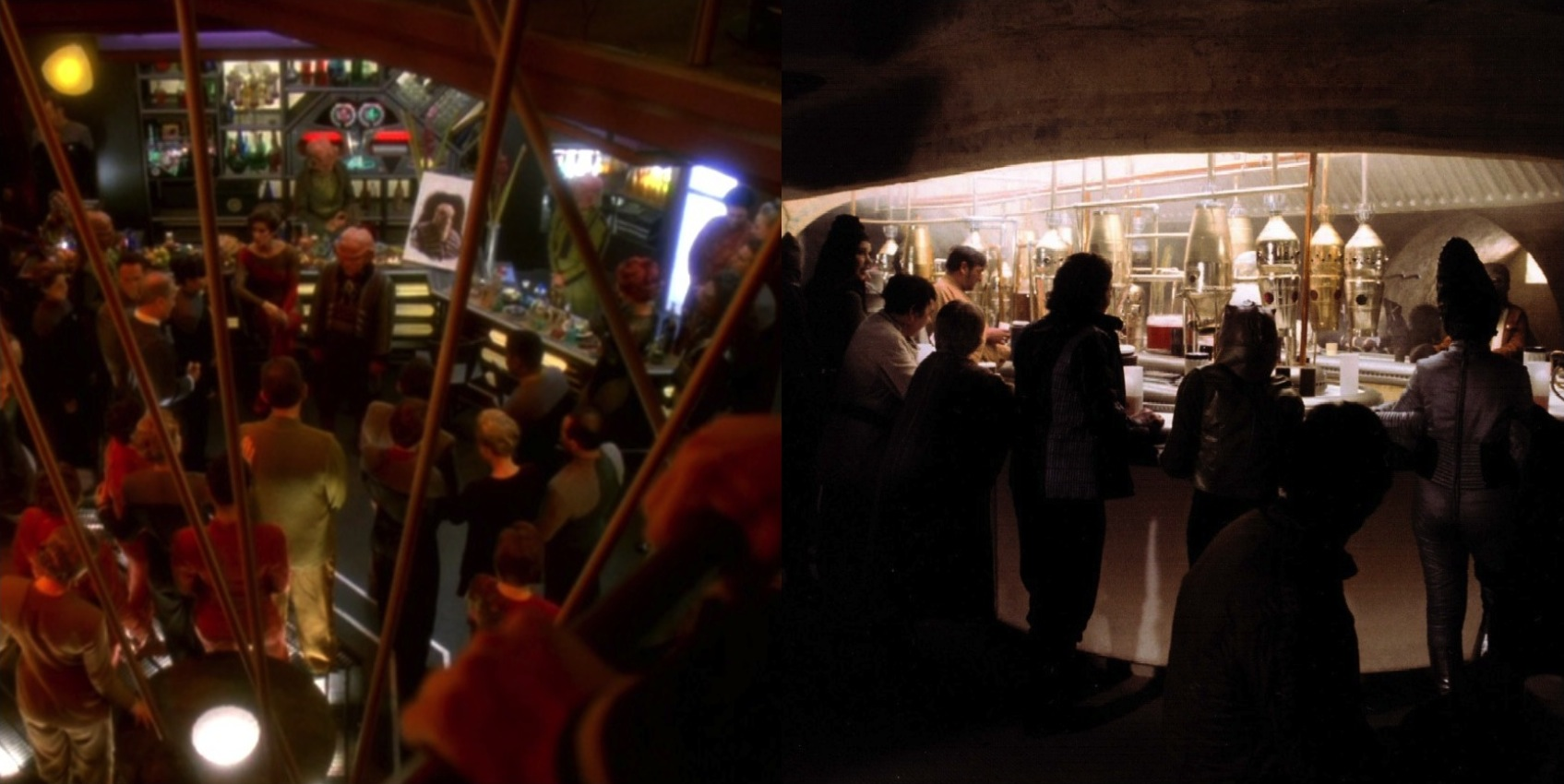 Quark's Bar versus Mos Eisley Catina