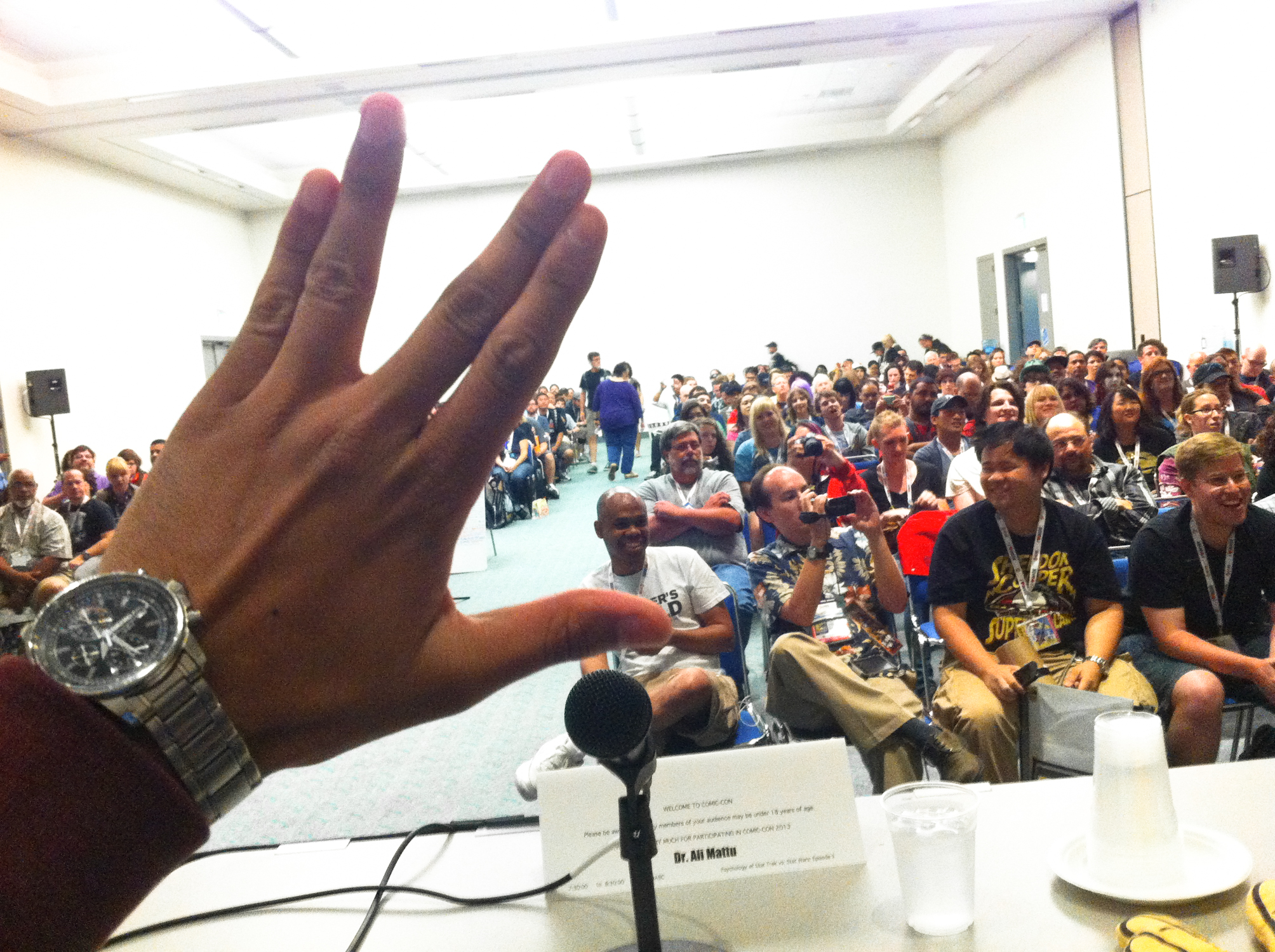 My view of from the panel.