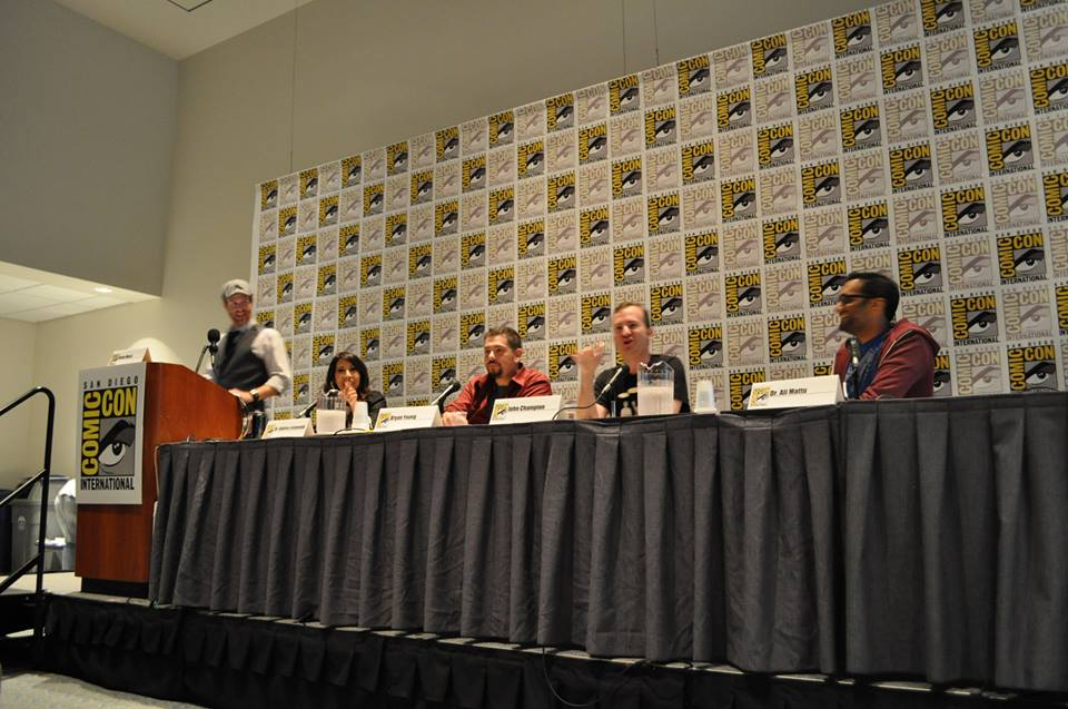 The Psychology of Star Trek Versus Star Wars Panel. Photo by Patricia Bailey.
