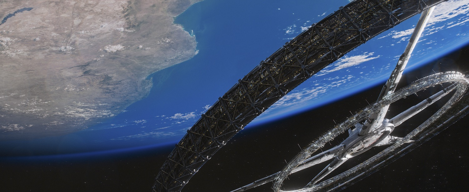 The NASA inspired look of  Elysium's  space station is beautiful.