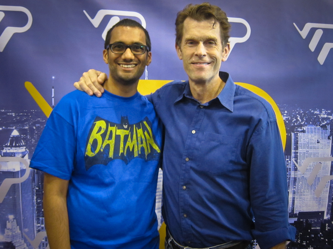 Me and my favorite Bruce Wayne - Kevin Conroy from  Batman: The Animated Series   &  Arkham City.