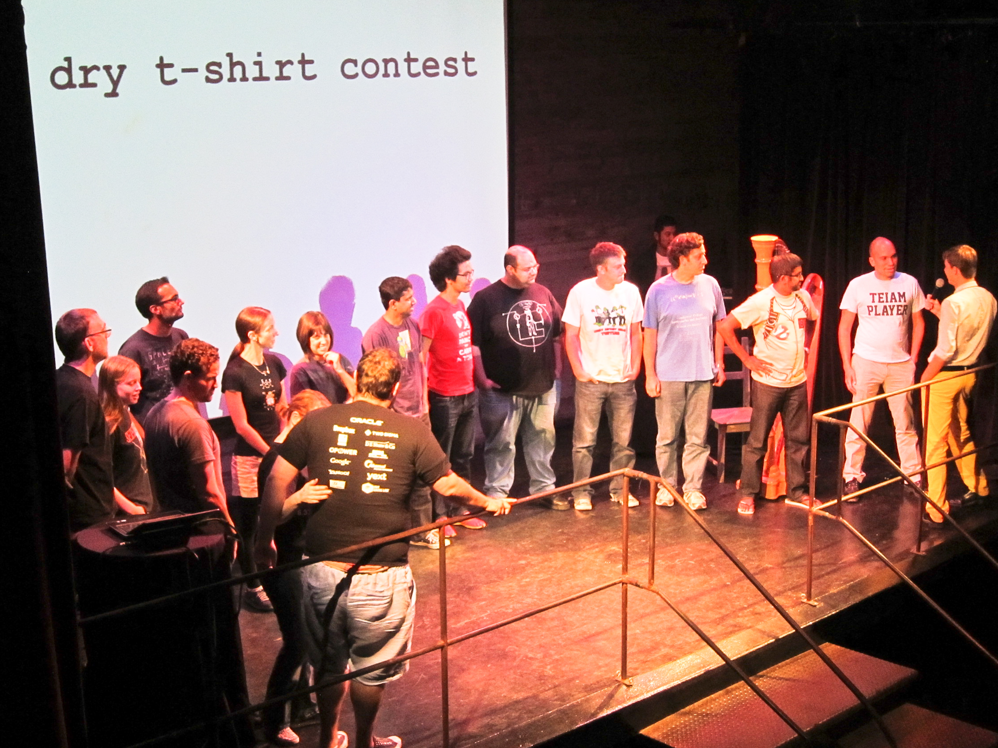 The Nerd Nite dry t-shirt competition.