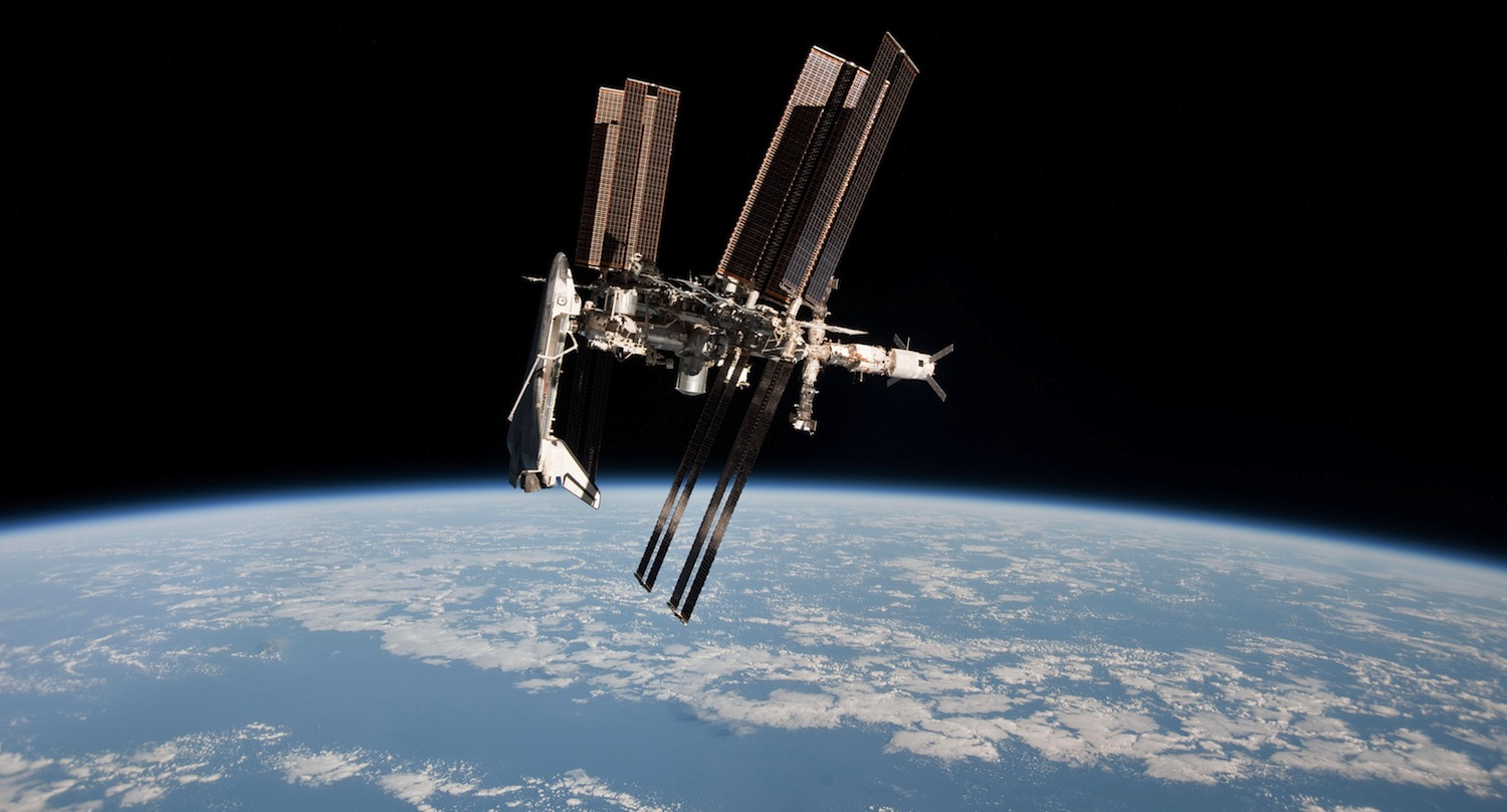 Space Shuttle Endeavor and the International Space Station. Image by NASA.
