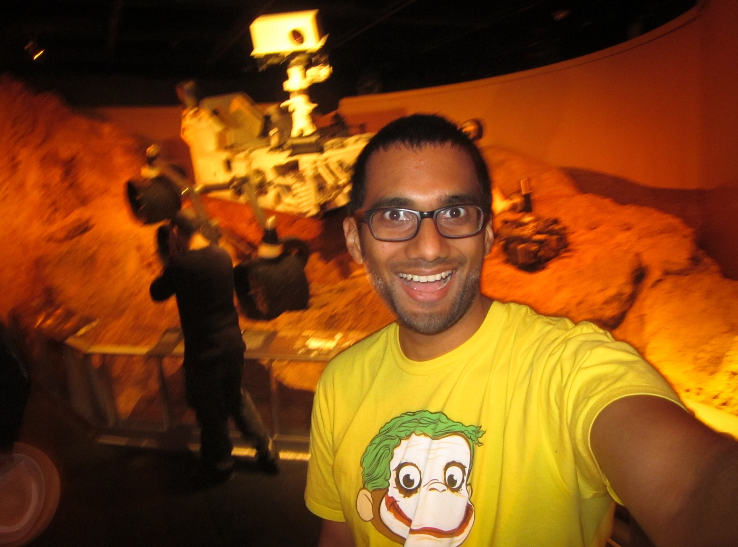 Selfie with a model of the NASA Mars Curiosity Rover, at American Museum of Natural History, 2012