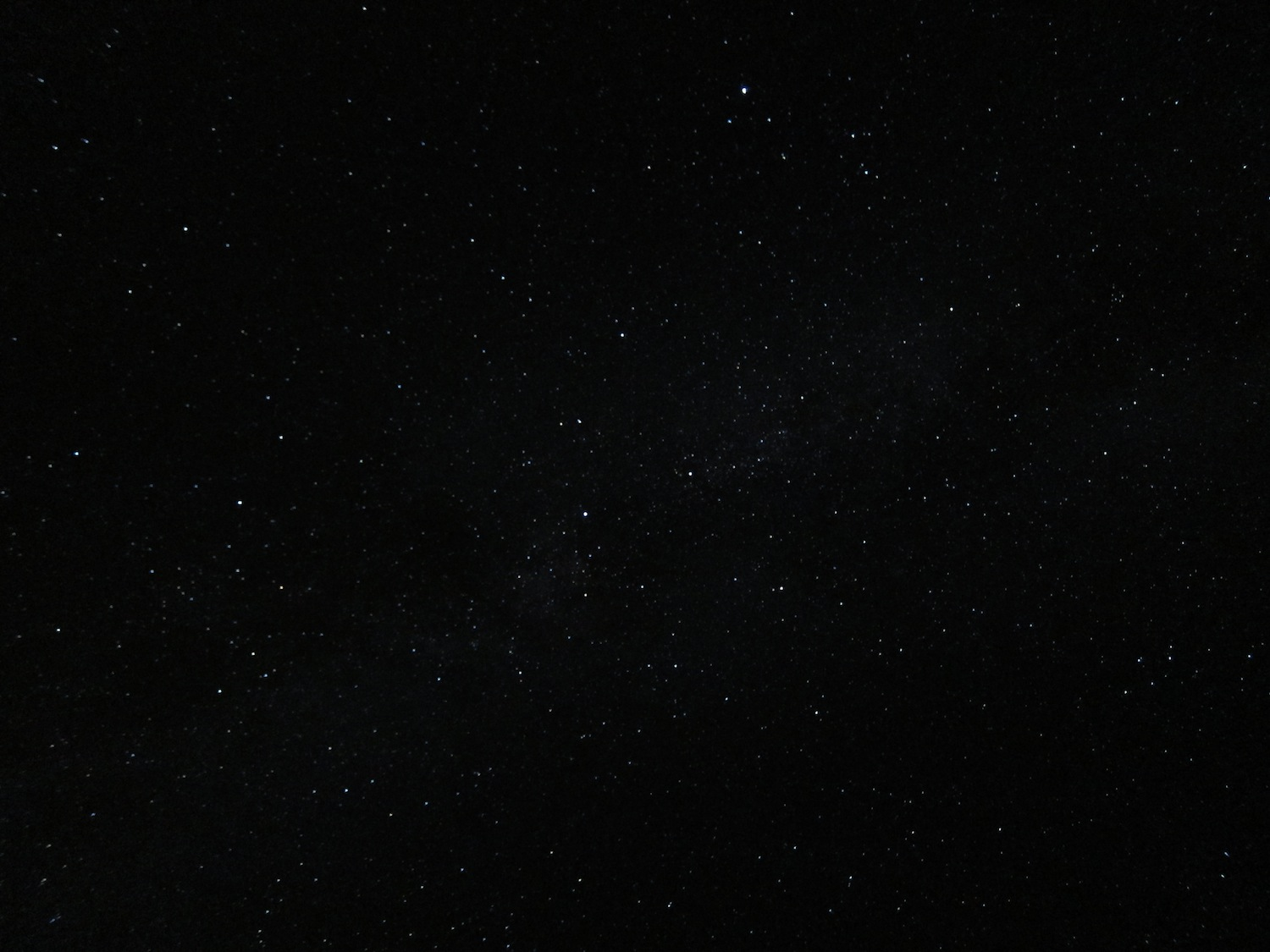 The view of our galaxy from my point and shoot camera in Hawaii, 2013.