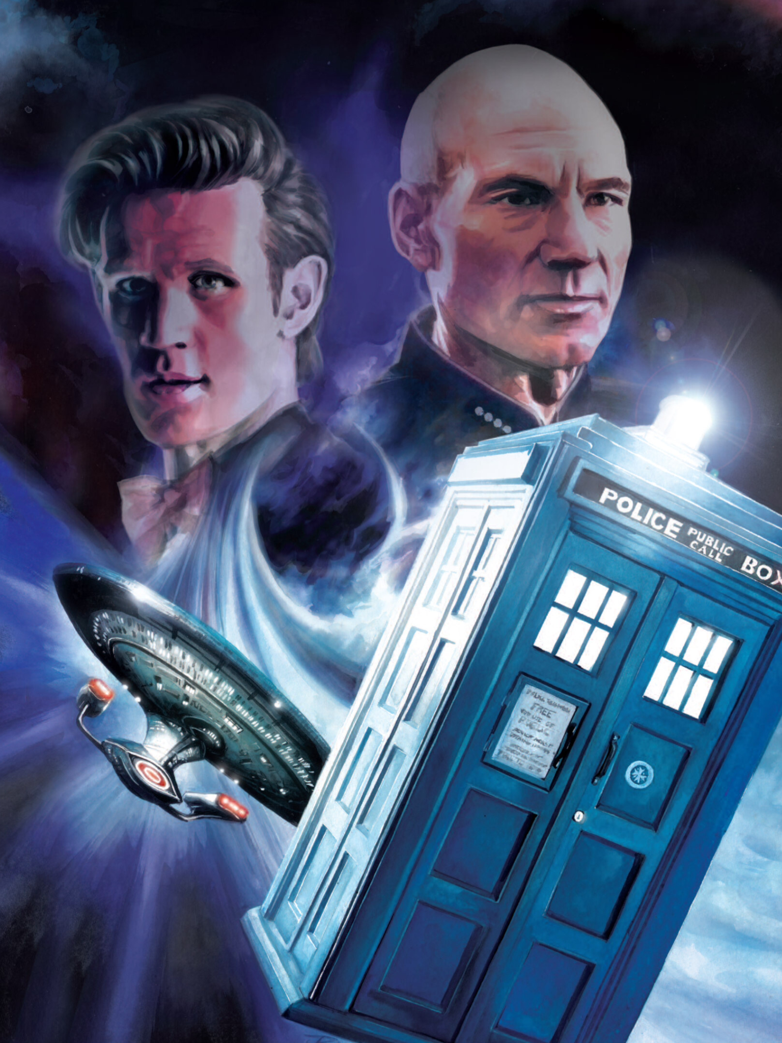 The more I learned about  Doctor Who , the more it reminded me of other scifi shows that I love. Illustration by J. K. Woodward for IDW Comics.